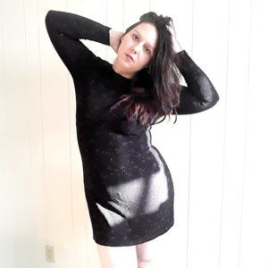 Vintage Ronni Nicole metallic glitter mini dress